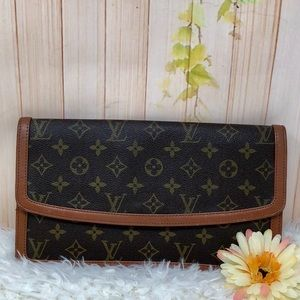 Authentic Louis Vuitton Pochette Damme Clutch PM